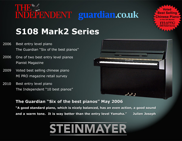 Steinmayer S108 Upright Piano Poster