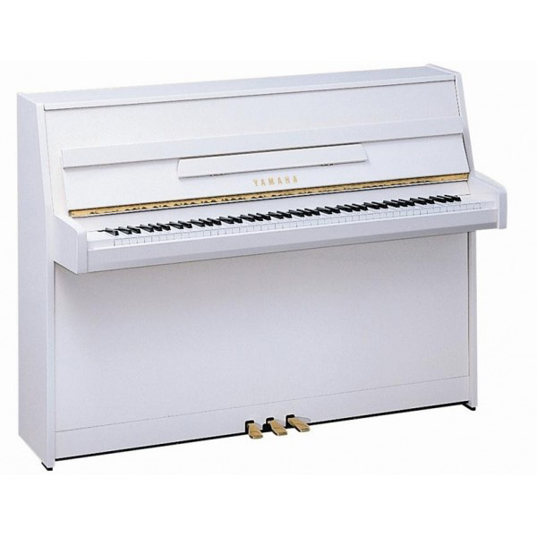 Yamaha B1 Upright Piano White Polish