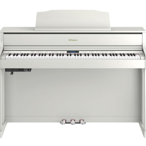 roland hp605 digital piano white