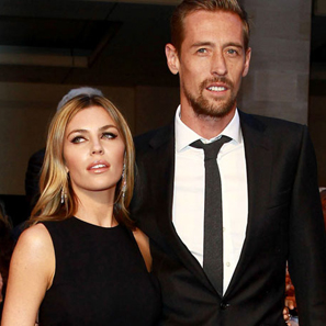 Abbey Clancy and Peter Crouch piano